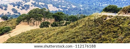 A view down the valley from Mount Diablo State Park, Clayton, California