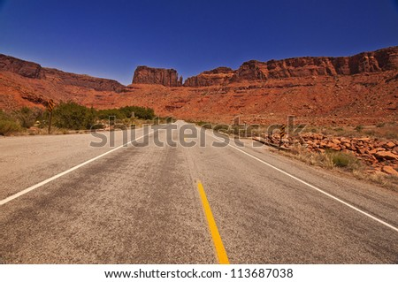 A View from Arches Scenic Drive - stock photo