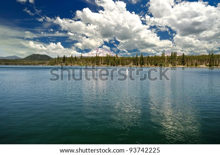 A View From Lava Lake Bend Oregon Stock Photo 93742225 ...