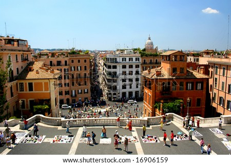 A view from Spain Square, Rome, Italy