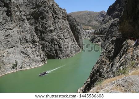 A view from the Dark Canyon in Kemaliye Erzincan, Turkey  Stok fotoğraf ©