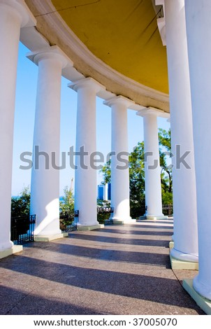 A view from the inside of the colonnade in Odessa, Ukraine