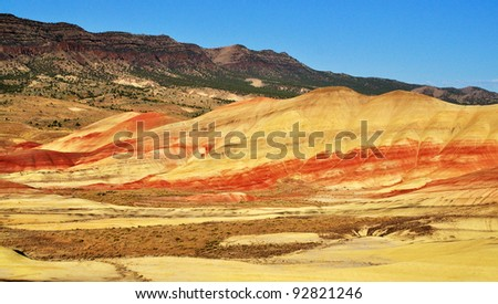 A View from the Painted Hills overlook - stock photo