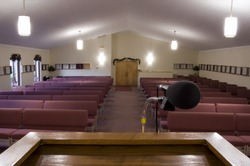 A view from the pulpit of an empty church