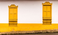 A view of a colorful building in the picturesque town of Jardin in Colombia.