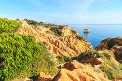 A view of a Parque Natural da Ria Formosa near Faro, Portugal
