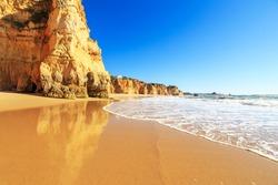 A view of a Praia da Rocha in Portimao, Algarve region, Portugal