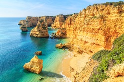 A view of a Praia da Rocha in Portimao, Algarve region, Portugal