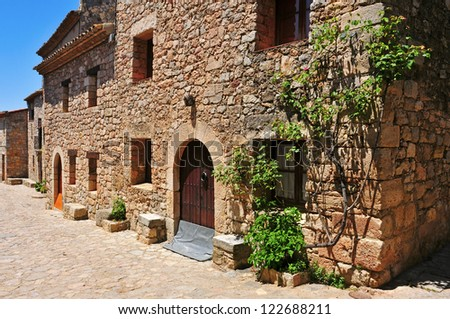 a view of a Siurana, an ancient village on the top of a peak in Tarragona, Spain