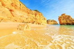 A view of a wonderful beach in Algarve region, Portugal