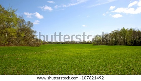 a view of an Ontario farmland #107621492