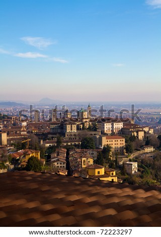 A view of bergamo landscape