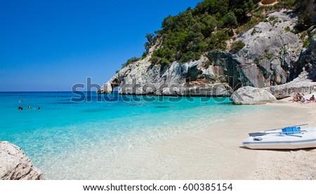 A view of Cala Goloritze beach, Sardegna Stockfoto ©