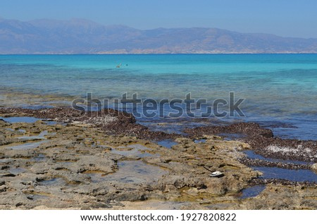 A view of Crete from the island of Chrissi