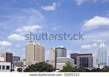 A view of downtown Austin Texas