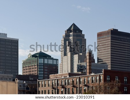 A view of downtown Des Moines Iowa