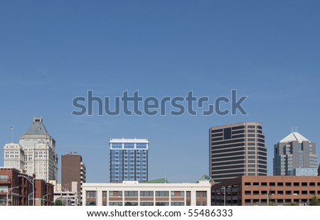 A view of downtown Greensboro, North Carolina.
