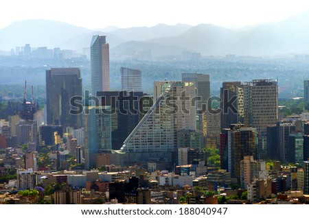 A view of downtown Mexico City, Mexico #188040947