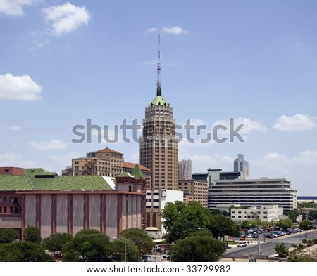 A view of downtown San Antonio Texas