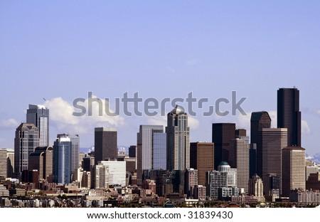 A view of downtown Seattle Washington