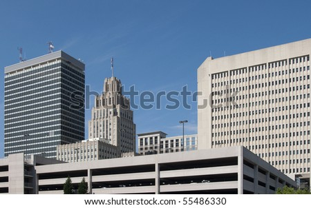 A view of downtown Winston-Salem, North Carolina.