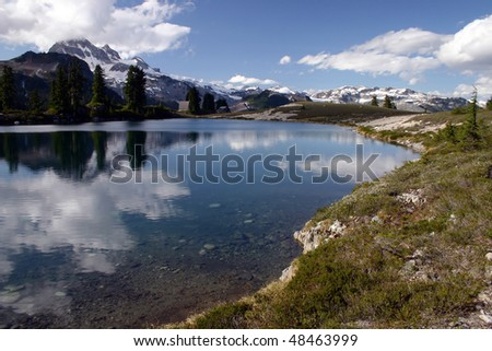 A view of Elfan Lake in BC, Canada.