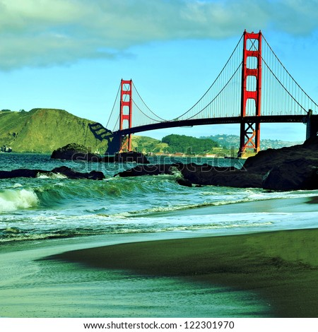 a view of golden gate bridge...