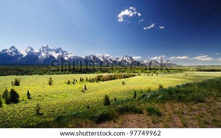 A view of grand teton national park