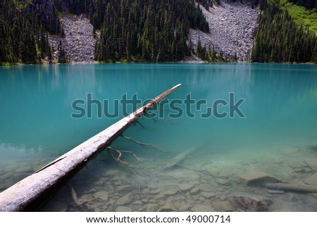 A view of Joffer lake in BC, Canada.
