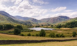 A view of Little Langdale Tarn in the Lake district National Par