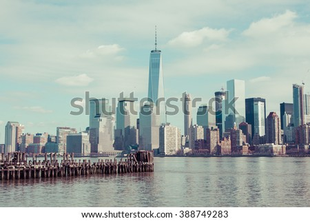a view of lower manhattan from...