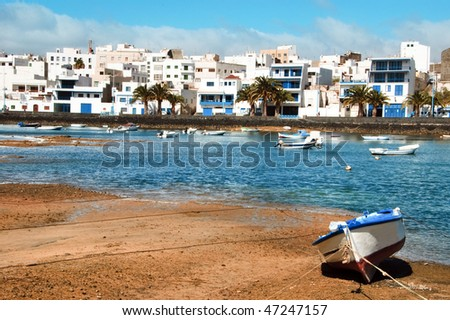 a view of Maritm ride from Arrecife, Lanzarote, Canary Islands, Spain