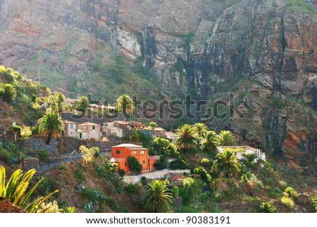 A view of Masca village, Tenerife, in the Spanish Canary Islands.