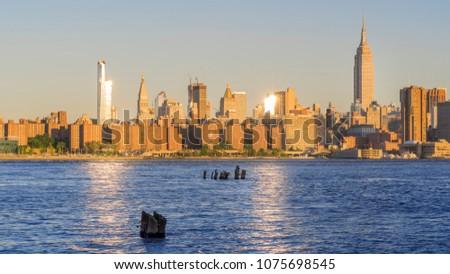 A view of Midtown Manhattan #1075698545