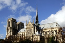 A view of Notre Dame de Paris