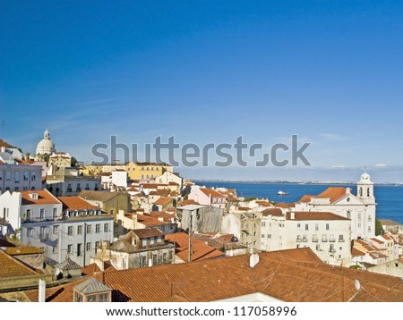 A view of old Lisbon (Portugal)