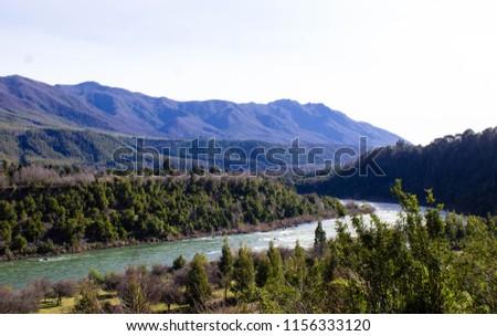 A view of Rio Bio Bio in Ralco, Chile #1156333120