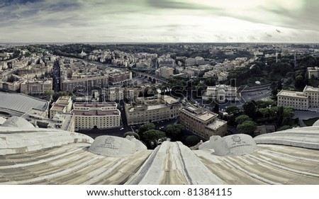 A view of Rome as seen from the Sistine Chapel, Italy