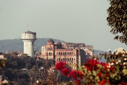 A view of ruins of Mubarak Mandi Palace from Bagh-e-Bahu in Jammu city of Union Territory of Jammu and Kashmir