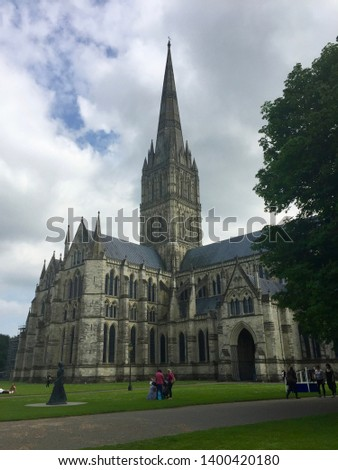 A view of Salisbury Cathedral #1400420180