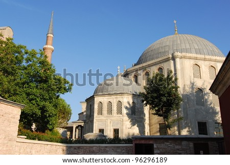 a view of Santa Sofia in Istanbul