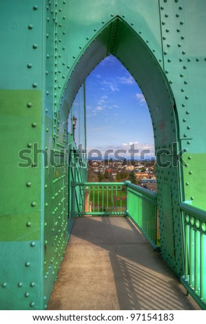 A view of st.johns historic bridge,