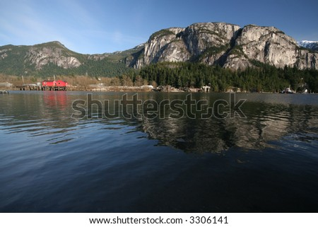 A view of Stawamus Chied mountain located in Squamish, British Columbia.