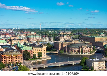 A view of Stockholm old city, Sweden - stock photo