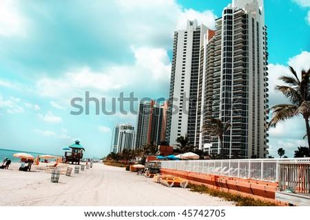 a view of sunny-island beach, Miami Beach, Florida, USA