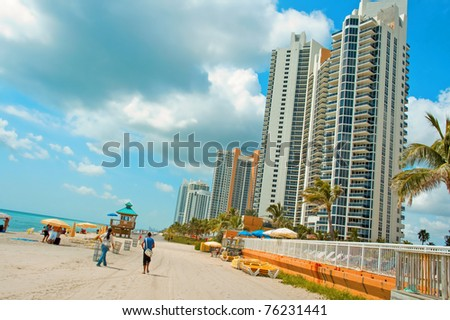 a view of sunny-island beach, Miami Beach, Florida, USA