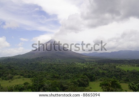 A view of the active volcano Arenal in Costa Rica
