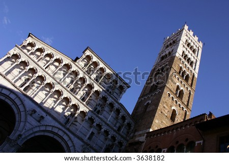 A view of the Cathedral of Lucca, one of the most beautiful cities of Tuscany