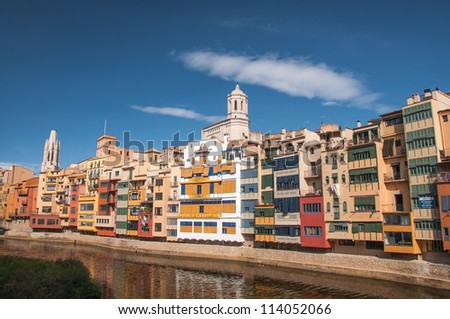 A View of the City of Girona in Spain