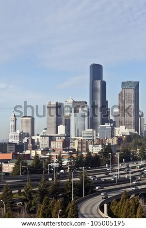 A View of the City of Seattle Skyline, Washington, USA